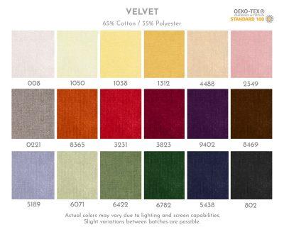 Cottoned Oeko-Tex certified velvet fabric