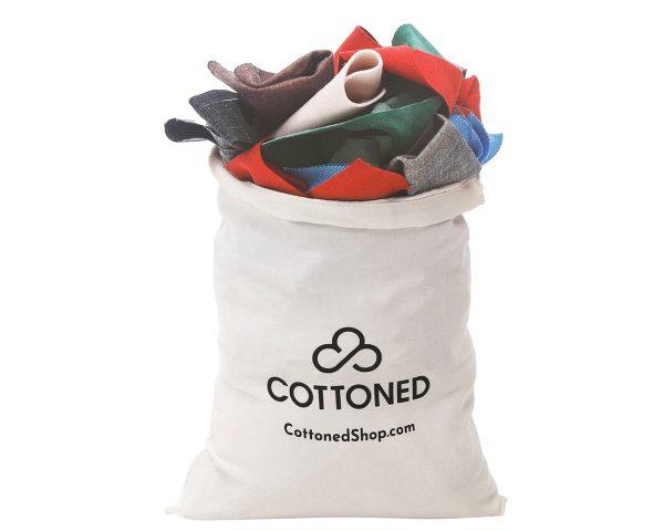 Cottoned fabric scraps bag